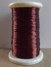 Enroulement de bobine magnétique fil de cuivre   Fil daimant rouge émaillé 1.5mm 20 mètres excellente propriétés isolantes