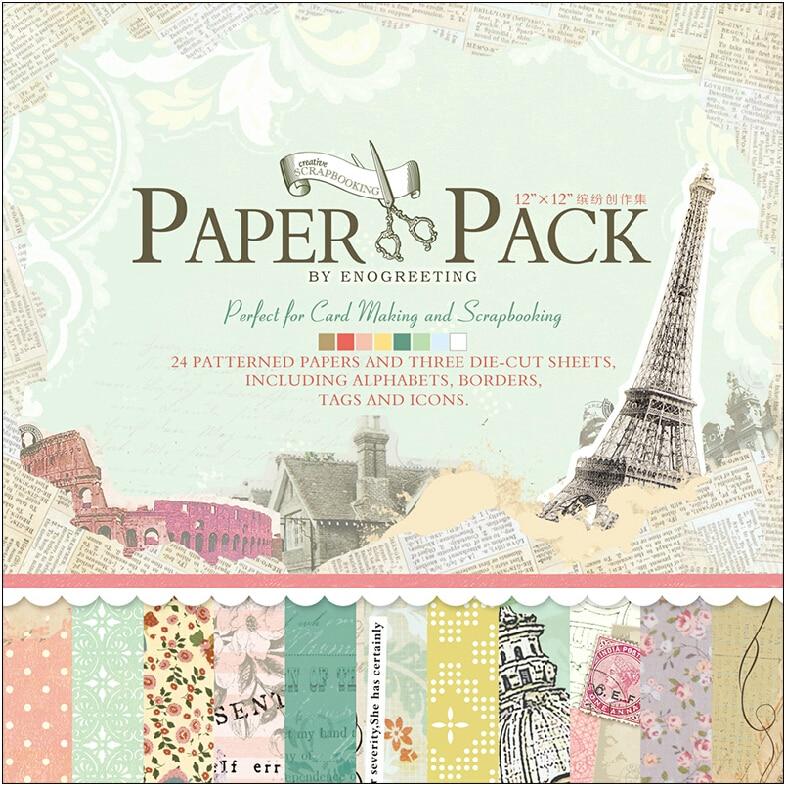 "Eno cumprimento scrapbooking ofício papel vintage paris torre eiffel scrapbook pacote de papel viagem 12 ""x 12"" scrapbook página kit"