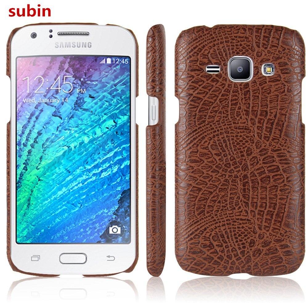 Para Samsung Galaxy J1 J100F J100FN J100H J100MU funda Retro cubierta de piel de cocodrilo para Samsung Galaxy J1 Duos funda para teléfono