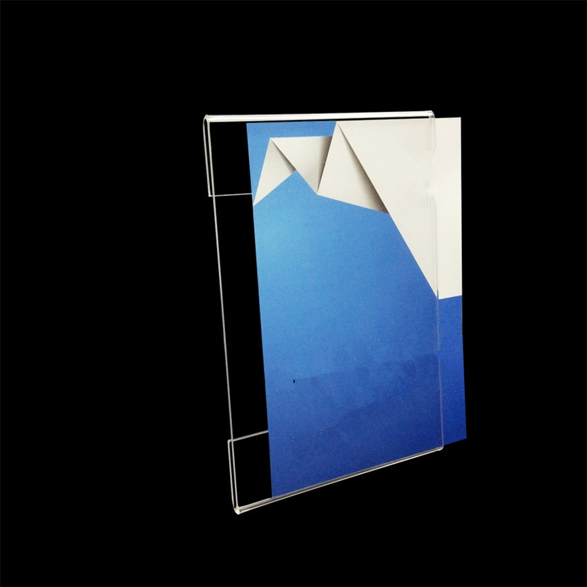 Vertical Acrylic T1.2mm Plastic Sign Price Tag Label Display Wall Sticker Paper Promotion Name Card Holders 2000pcs