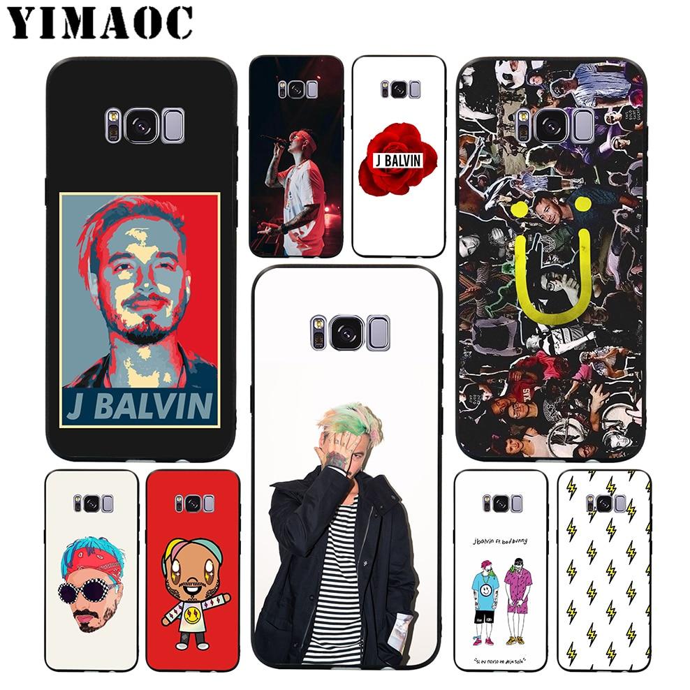 YIMAOC J Balvin Hip Hop suave funda para Samsung Galaxy S10 S10e S9 S8 A6 más S7 S6 borde A7 A5 A3 J6 Nota 9 8