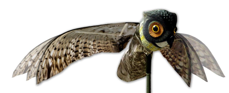 الطبيعية وهمية البومة شرك فزاعة الطيور مكافحة الآفات مع أجنحة متحركة واقعية تخويف الطيور ، الفئران ، الفئران ، القوارض away