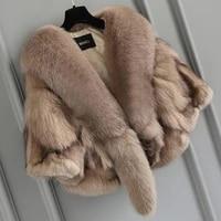 real fur coat for women winter natural fox fur jacket fashion short silm outwear luxury brand ladies vintage female waistcoat