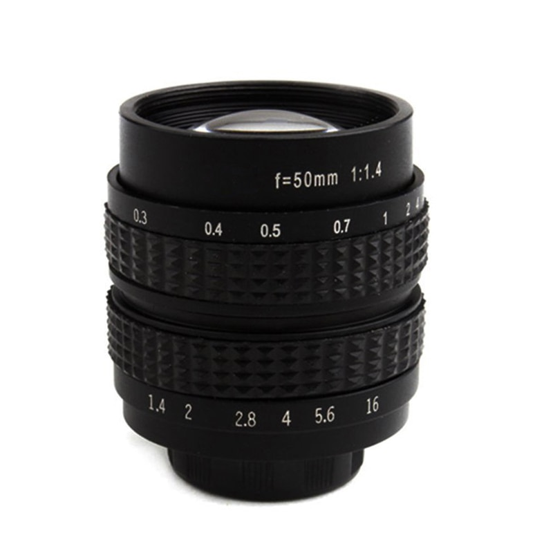 Objectif de film CCTV 50mm F1.4, monture C-NEX pour SONY E Mount NEX3 NEX6 NEX7 A6500 A6300 A6000 A5000, accessoires dappareil photo