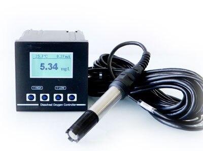 Контроллер растворенного кислорода в реальном времени промышленный измеритель монитора тестер RS485 Modbus 4-20mA реле выход рыбный пруд