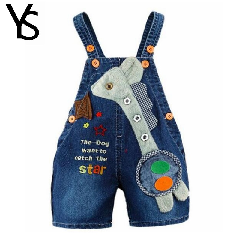 Джинсы для маленьких мальчиков и девочек, шорты-комбинезоны для маленьких детей, Детский джинсовый комбинезон с рисунком жирафа, летняя детская одежда