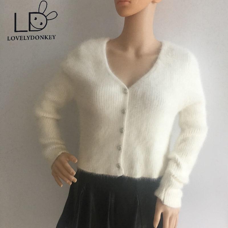LOVELYDONKEY cárdigan de punto de visón suéter mujer Cachemira abrigo suéter de cachemira tamaño grande envío gratis M671
