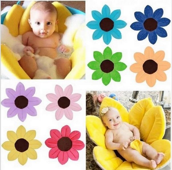 Bañera infantil con flor de baño de bebé 2018, bañera de bebé con pliegue, bañera de pétalo Neonatal, bañera de bebé de 80CM
