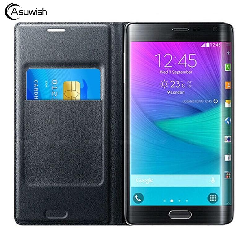 Кожаный флип-чехол для телефона samsung Galaxy Note Edge SM N915 N9150 N915F N915T N915G N915FY, держатель для карт, чехол-кошелек