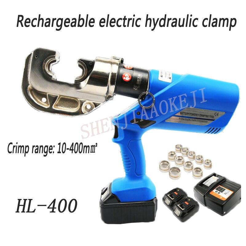 1 قطعة HL-400 قابلة للشحن الهيدروليكية كماشة/الكهربائية الهيدروليكية العقص أدوات/بطارية تعمل بالطاقة سلك crimpers 16-400mm2