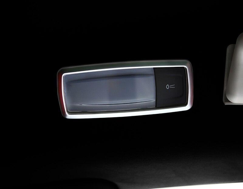2pcs for Maserati Levante Reading lamp Sequins Decorative frame sticker