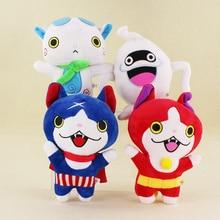 4pcs/Lot 20-23cm New Yo-Kai Kawaii Yokai Watch Doll Jibanyan Komasan and Whisper Youkai Plush Toys Stuffed Dolls