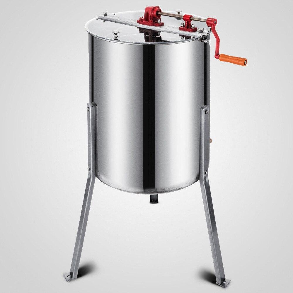 Vevor nova marca grande 3 quadro de aço inoxidável manual extrator mel