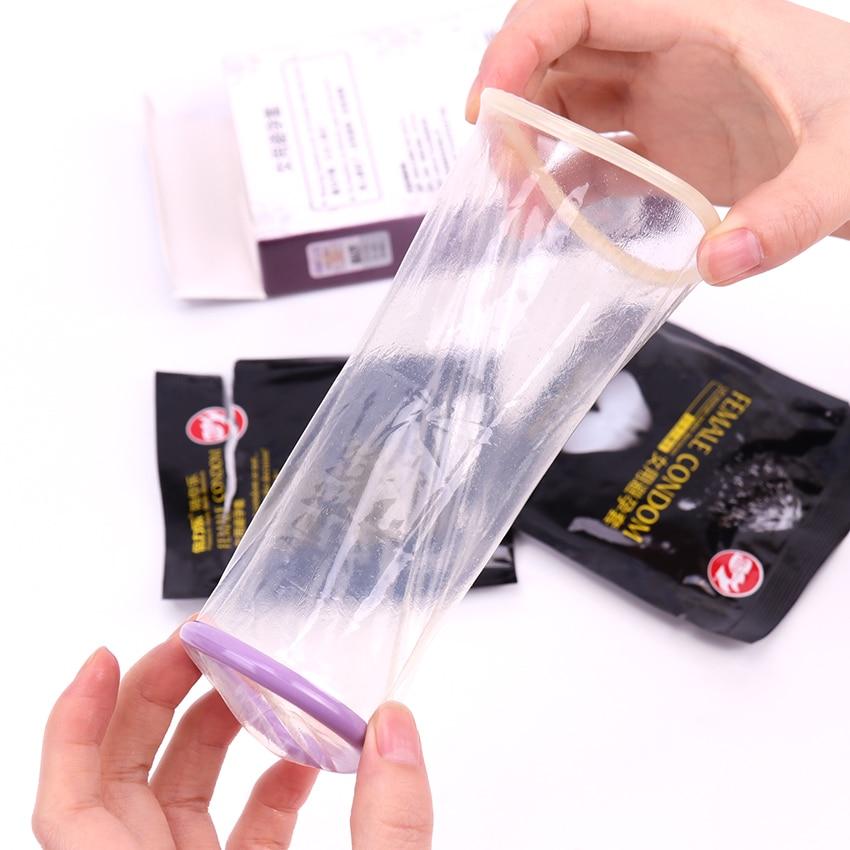 2PCS/Box New Female Condom Women Orgasm Latex Stimulate Adult Sex Products Couple Sexual Love Condom