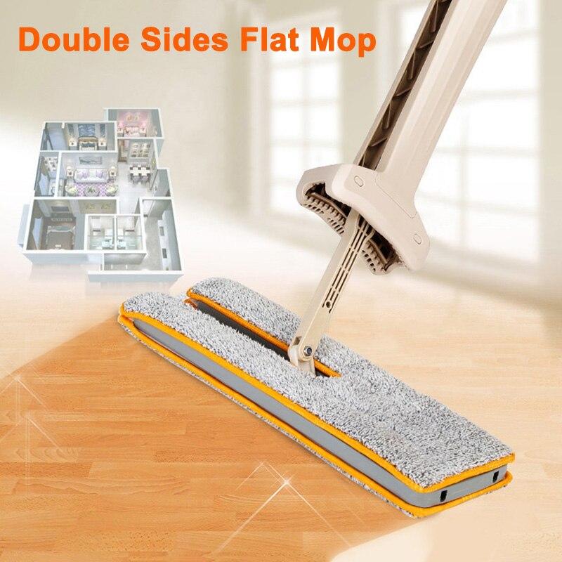 Mopa de lado doble caliente fregona plana 360 fregona giratoria fregona de limpieza de suelo de madera dura cocina MDD88