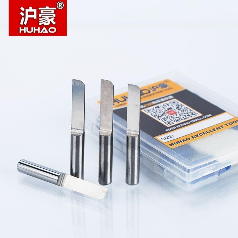 Huhao 1pc shank 6mm paralelo carboneto pcb gravura bit tungstênio fresa cnc fresa de aço bits cel 15mm 17mm 20mm 22mm