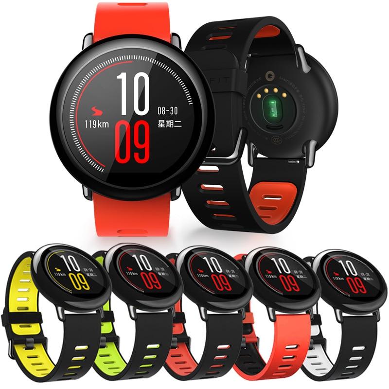 Para amazfit GTR 47MM acessorios pulsera deportiva de silicona correa para Xiaomi Huami Amazfit ritmo inteligente reloj correa para Amazfit Stratos3