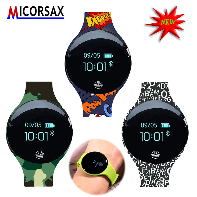 New Children style Sport Fitness Watches Smart Bracelet Activity Tracker Band Pedometer Wearable Device Better Than Fit-Bit H8