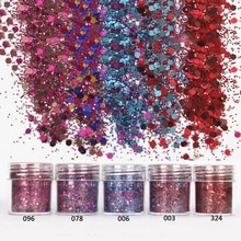 Shellhard 5 Boxes/Set Chunky Glitter Powder Sequins Flake 10ml Nail Art Tips Decor Chunky Glitter Su