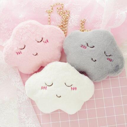 Super lindo peludo de un solo hombro bolsas Mini teléfono cartera bolso de dibujos animados Lolita cadena dulce chica Kawaii 11 tipos