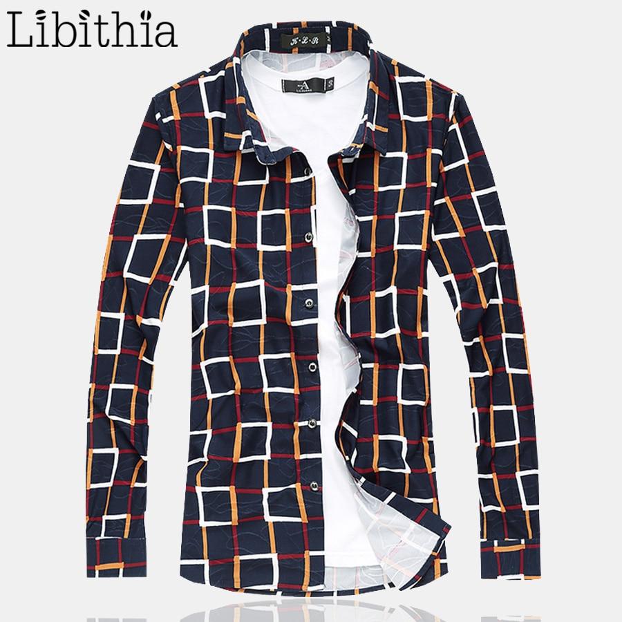 100% de algodón mercerizada para hombre, camisas de manga larga a cuadros, Camisa Social Masculina, tamaño grande 5XL 6XL 7XL, blusa suelta informal J101