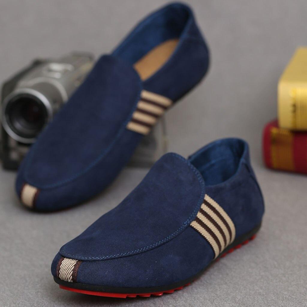 Zapatos de hombre 2019, zapatos casuales de moda antideslizantes de lona salvaje transpirable, zapatos cómodos únicos, zapatos planos de guisantes