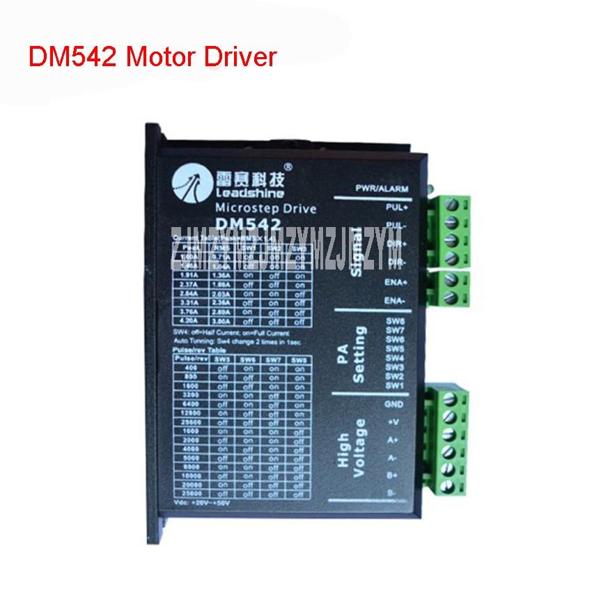 DM542 Step Driver New DSP Digital 57 Stepper Motor Driver Kit 24-50VDC / 1-4.2A Motor Driver Subdivision range 4-256 breakdown
