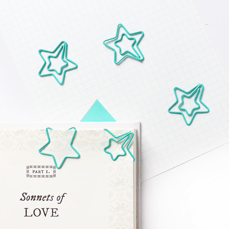 Специальная зеленая звезда, зажимы для бумаги, Закладка, школьные и офисные аксессуары, зажимы для бумаги, Декоративная звезда, зажим для бу...