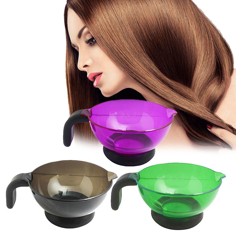 1 pieza de cepillo de tinte de plástico para el cabello profesional de salón, cepillo de tinte para el cabello, peine para mezclar, copa de succión, Bol de paleta Herramienta de Peinado color al azar