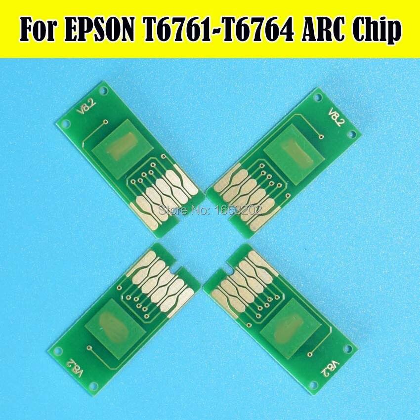 4 unid/set T6761-T6764 T676 Auto Chip reajuste para Epson WP-4530 WP-4010 WP-4020 WP-4023 WP-4090 chips para cartucho de impresora