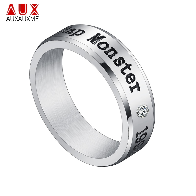 Кольца Auxauxme с монстрами из титановой стали, кольца с монстрами из циркония золотого цвета, обручальное кольцо для женщин и мужчин, подарок на помолвку