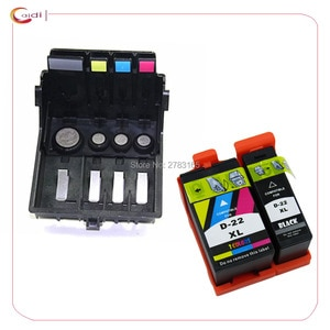 Replacement Dell 21 ink cartridge + 4-slot Printhead Print Head for DELL P513w V313 V515w V313w V715w Office Printer