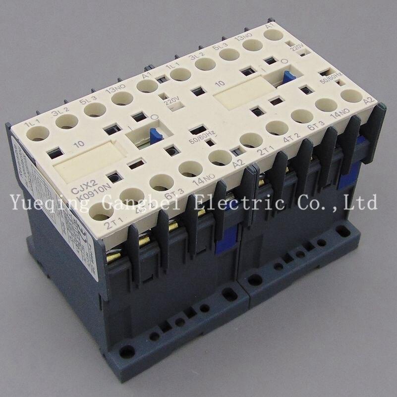 CJX2K1610N invertir contactor bloqueo mecánico contactor Tensión de 380V 220V 110V 36V 24V
