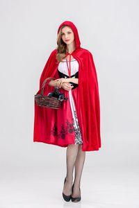 Halloween New Little Red Riding Hood Costume Castle Queen