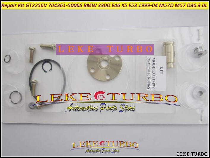 Турбо Ремонтный комплект ремонтные комплекты GT2256V 704361-5006S 704361 Турбокомпрессор Для BMW 330D E46 X5 E53 1999-2004 M57D M57 D30 3.0L 184HP