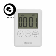 Digoo DG-TK30 Mini LCD Display Electric Digital Timer Loud Alarm Magnetic Backing Countdown Timer Fo