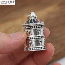 El yapımı OM Ghau 925 gümüş tibet OM Gau kutusu kolye vintage gümüş budist namaz kutusu kolye
