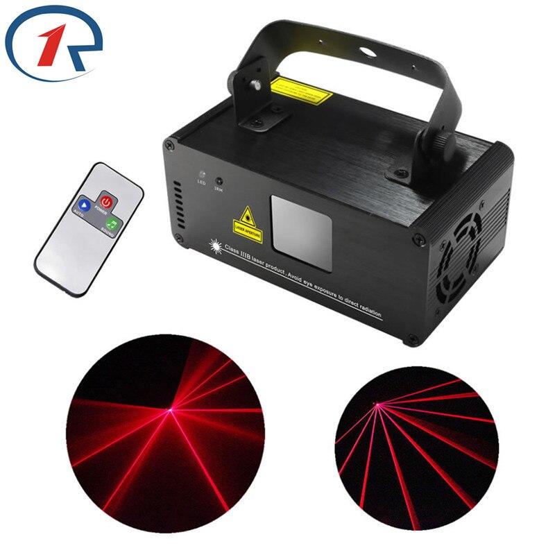 ZjRight Laser Projektor Disco licht IR Remote 100mw ROT Bühne Licht Wirkung DMX 512 Scanner Bühne Licht Party Bar KTV Weihnachten Lichter