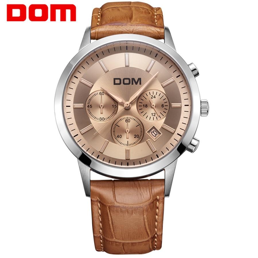 DOM Fashion Chronograph Sport Mens Watches Top Brand Luxury Quartz Watch Reloj Hombre 2018 Clock Male hour relogio Masculino