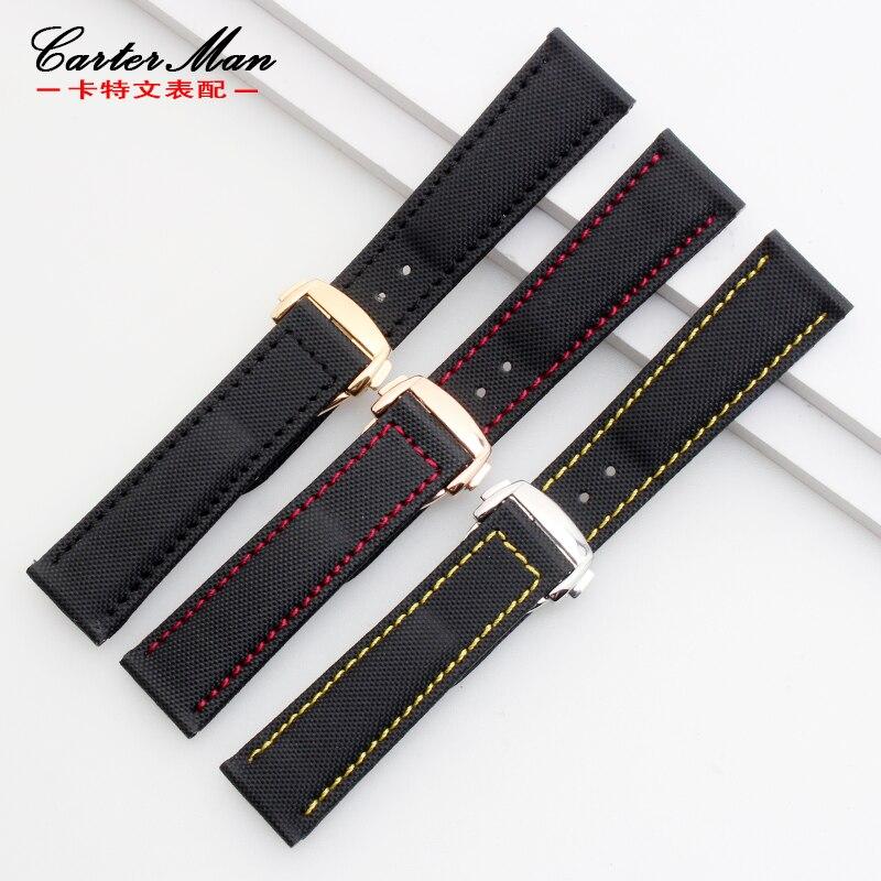 Correa de nylon de alta calidad para planeta OMG correa de reloj 19mm 20mm 22mm pulsera con hebilla plegable