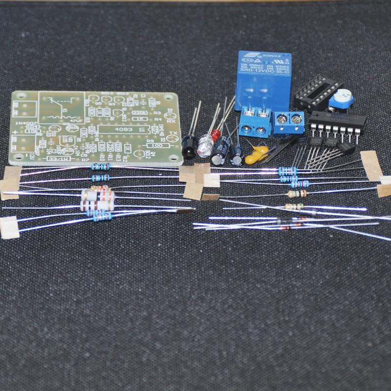 Kit electrónico DIY relé de proximidad infrarrojo Kit DIY interruptor de Control sin soldadura disparador automático Módulo de grifo 12V 250V 10A Flux