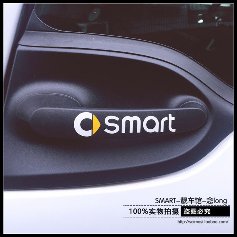 Adesivos de porta de carro refletivos, 2 peças, adesivos e decalques de carro rally para 451 453 smart fortwo