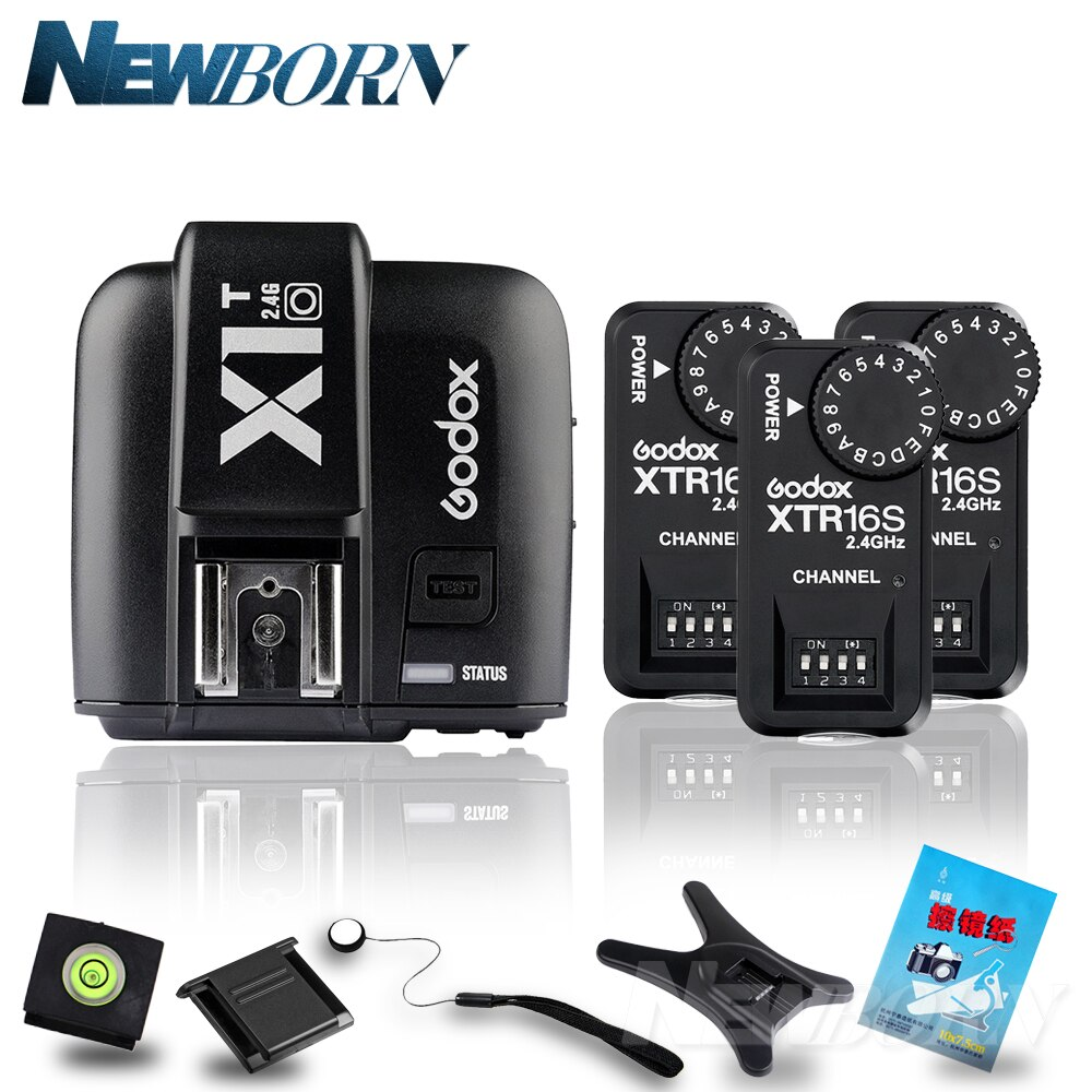 Godox X1T-O TTL 2,4G disparador inalámbrico para Olympus Panasonic + 3x XTR-16S receptor de Flash para V850/V860C/V850II/V860IIC/V860N/V860II