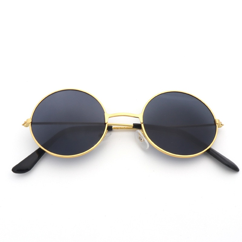 Women Sunglasses 2019 New Round Sunglasses Men Women Retro Metal Frame Black Vintage Luxury Mirror T