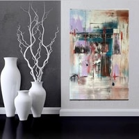 pure handmade unique gift canvas art modern abstract oil painting decorative wall pictures for living room decoration