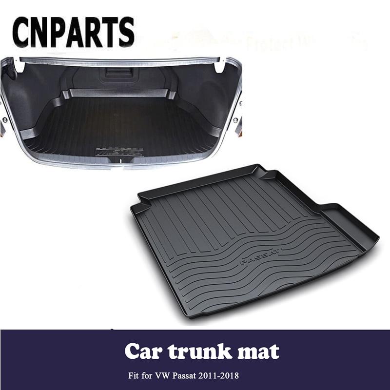 CNPARTS For VW Passat 2011 2012 2013 2014 2015 2016 2017 2018 Car Cargo Liner Trunk Anti Slip Mat Custom Boot Tray Waterproof
