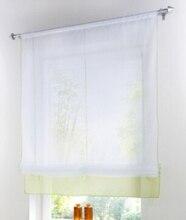 Cortina decorativa de jardín, cortina romana de cinta elevadora, barra de persianas romana ajustable en altura, tapa de bolsillo