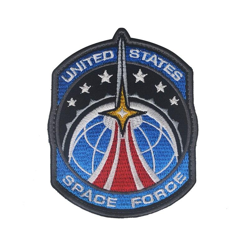 2020 新アメリカスペース力スペース代理店刺繍腕章ジーンズ装飾布生地軍制服布ステッカー