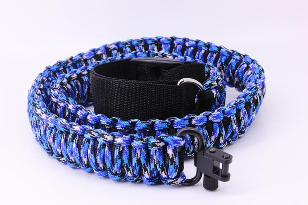 Cuerda de Tiro Táctico ajustable 550 cuerda de paracaídas-Rifle-2 puntos-uso múltiple Extra fuerte
