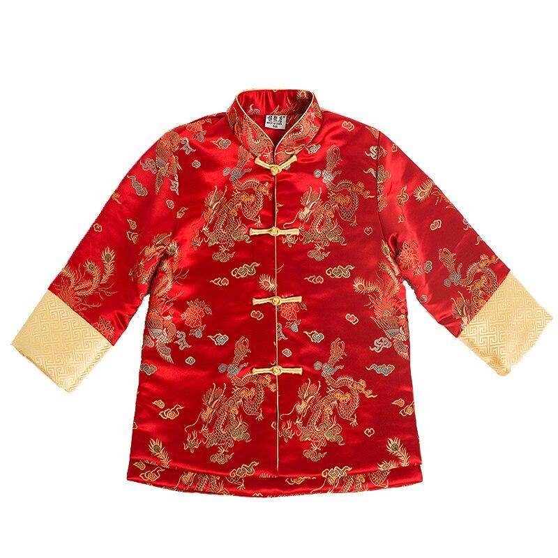 2019 chino tradicional Tang Baby Boys abrigos acolchados niños chaqueta trajes de alta calidad China vestido traje de la escuela bordado